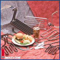Watlow offers thermal solutions for both the smooth griddle side and the grooved-plated grill side